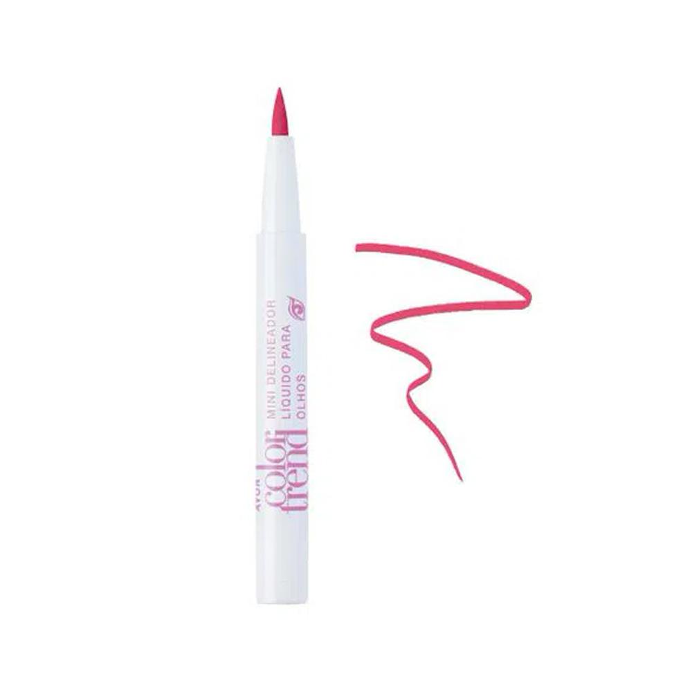 Mini Delineador Líquido Color Trend Rosa Modernete 0,8 Ml  - Flor de Alecrim - Cosméticos