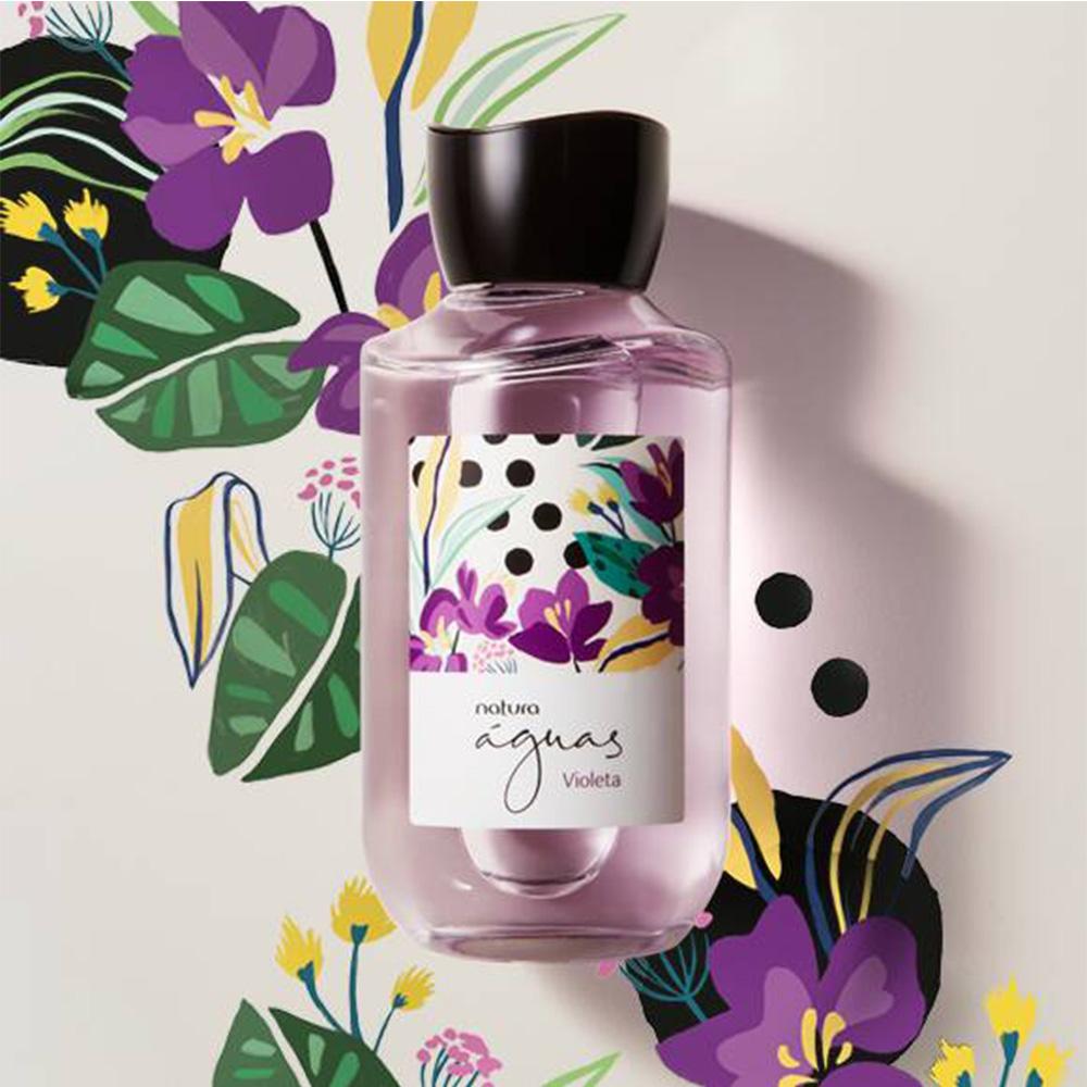 Natura Águas Desodorante Colônia Violeta 170 Ml  - Flor de Alecrim - Cosméticos