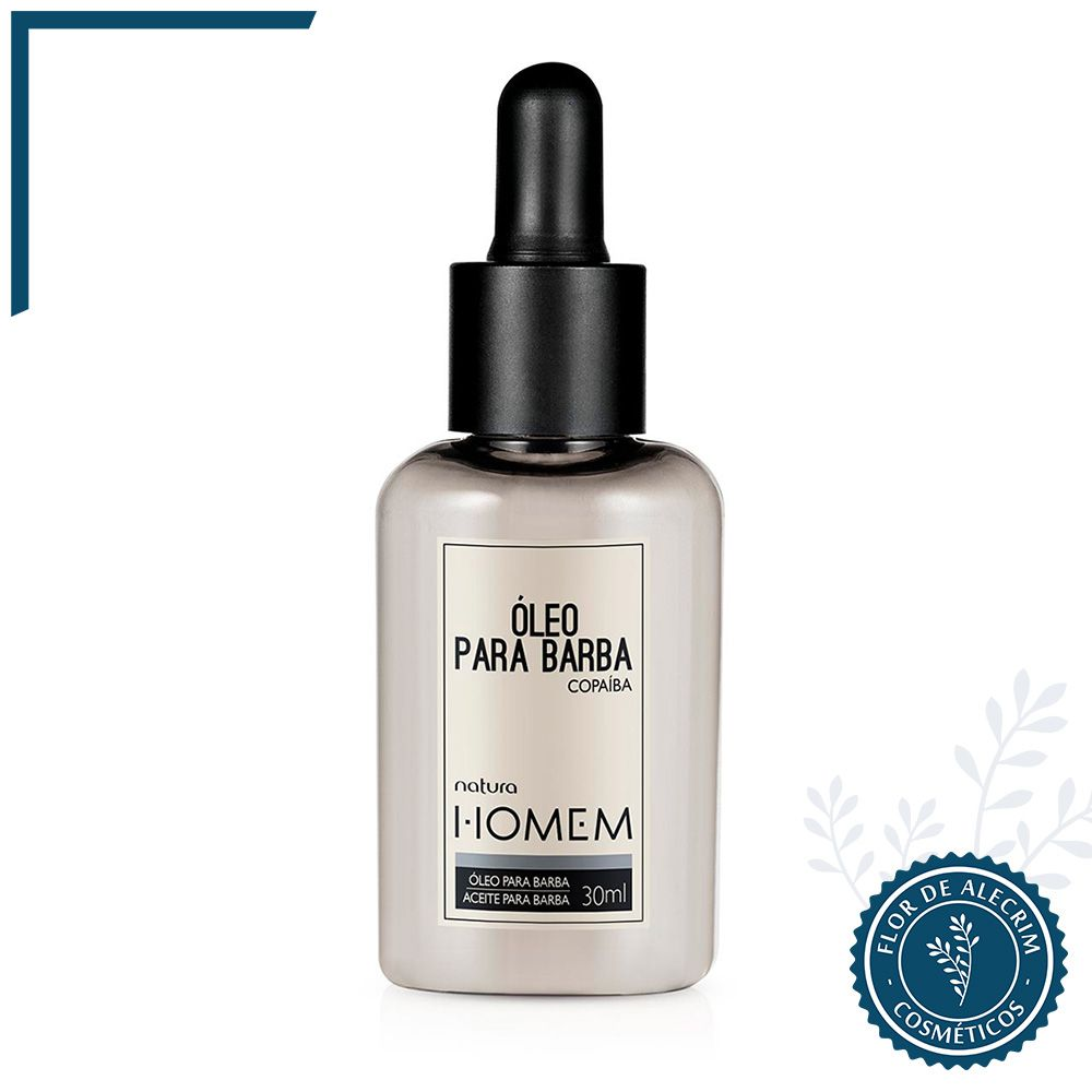 Óleo para Barba Natura Homem - 30 ml | Natura  - Flor de Alecrim - Cosméticos
