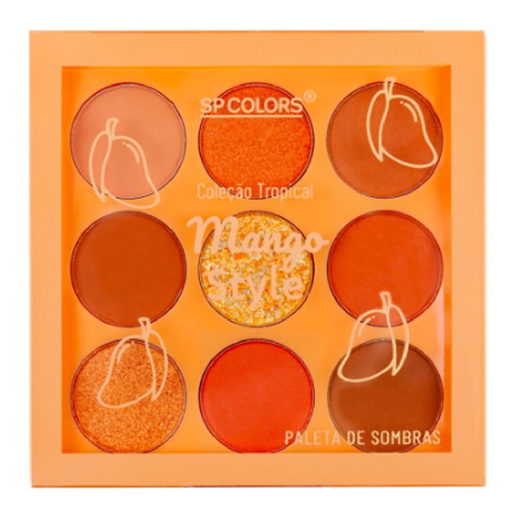 Paleta de Sombras 9 Cores Mango Style SP Colors 6 g  - Flor de Alecrim - Cosméticos
