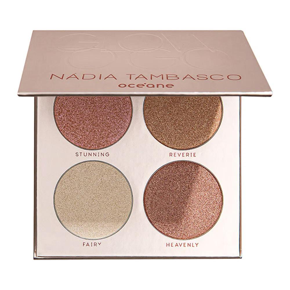 Paleta de Sombras Glow To Go Nadia Tambasco 4 Shades 18 g  - Flor de Alecrim - Cosméticos