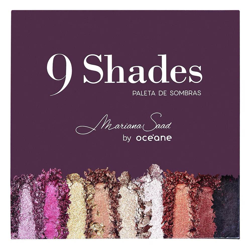 Paleta de Sombras Mariana Saad 9 Shades 30,6 g  - Flor de Alecrim - Cosméticos