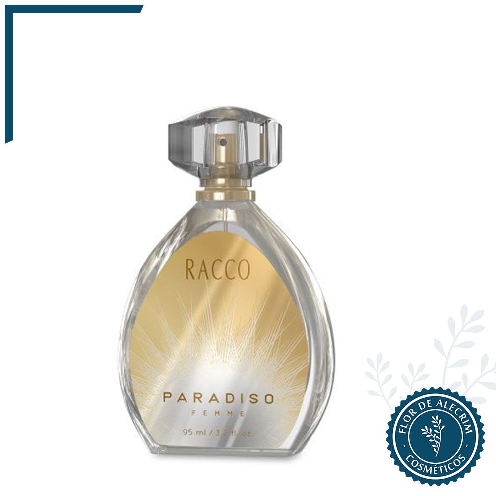 Paradiso Femme - 95 ml | Racco  - Flor de Alecrim - Cosméticos