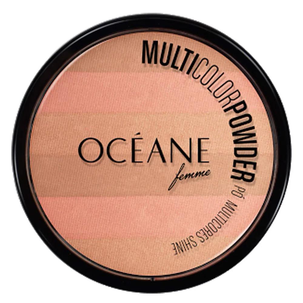 Pó Facial Multicolor Powder Shine Bronze Océane 9,6 g  - Flor de Alecrim - Cosméticos