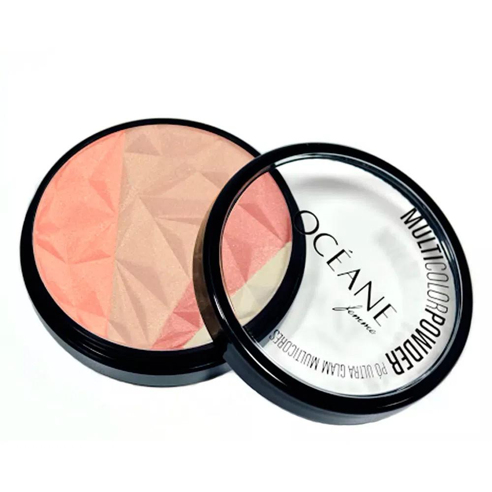 Pó Facial Multicolor Powder Ultra Glam - 9,56 g | Océane  - Flor de Alecrim - Cosméticos