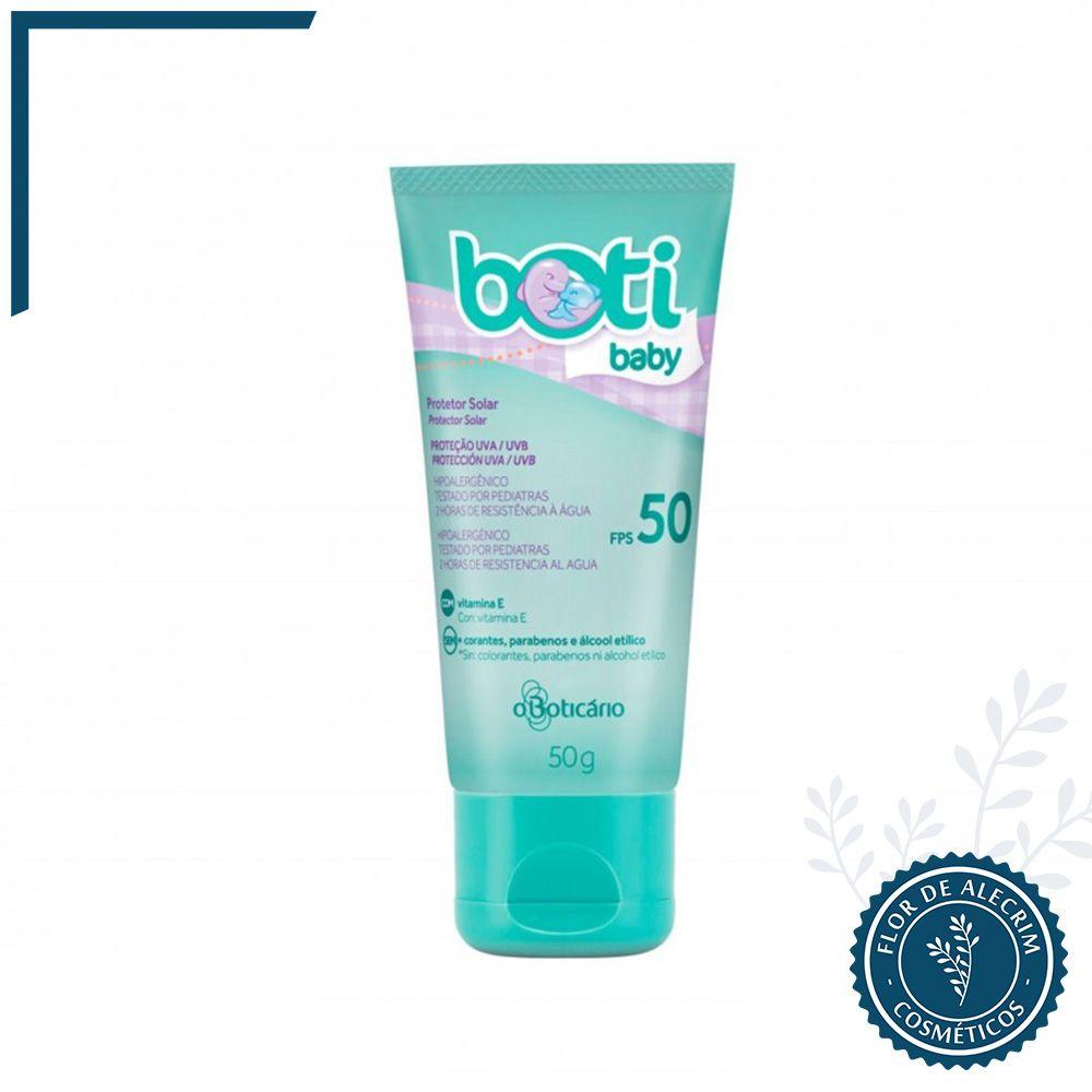 Protetor Solar Corporal FPS 50 | Boti Baby - 50 g  - Flor de Alecrim - Cosméticos