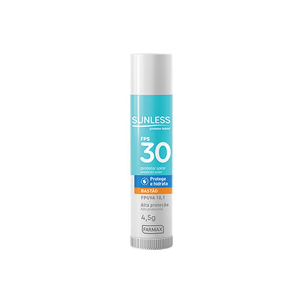 Protetor Solar Labial Bastão 30 FPS - 4,5 g | Sunless  - Flor de Alecrim - Cosméticos
