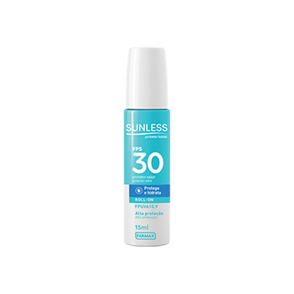 Protetor Solar Labial Roll-On 30 FPS 15 Ml  - Flor de Alecrim - Cosméticos