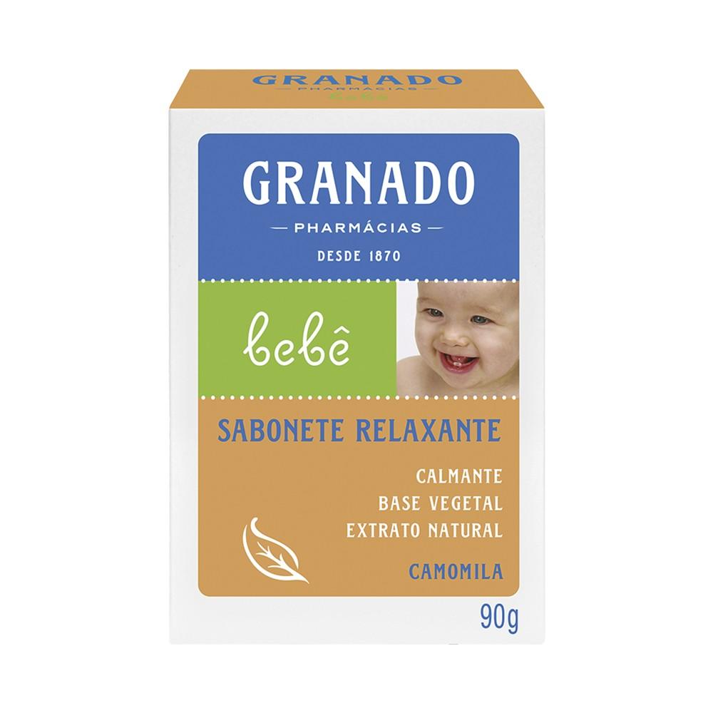 Sabonete Barra Bebê Granado Camomila 90 g  - Flor de Alecrim - Cosméticos