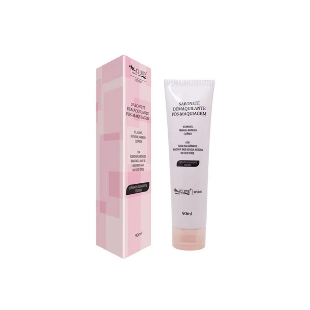 Sabonete Facial Demaquilante Pós Maquiagem Max Love 90 Ml  - Flor de Alecrim - Cosméticos