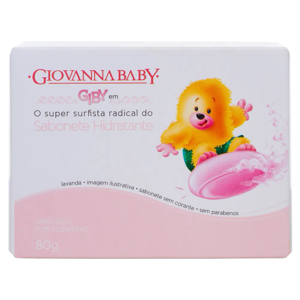 Sabonete em Barra Baby Giby Classic Rosa - 80 g | Giovanna Baby  - Flor de Alecrim - Cosméticos