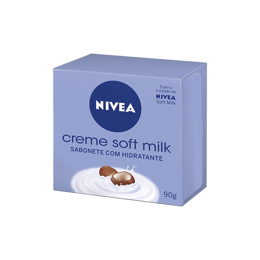 Sabonete em Barra Corporal Creme Soft Milk - 90 g | Nivea  - Flor de Alecrim - Cosméticos