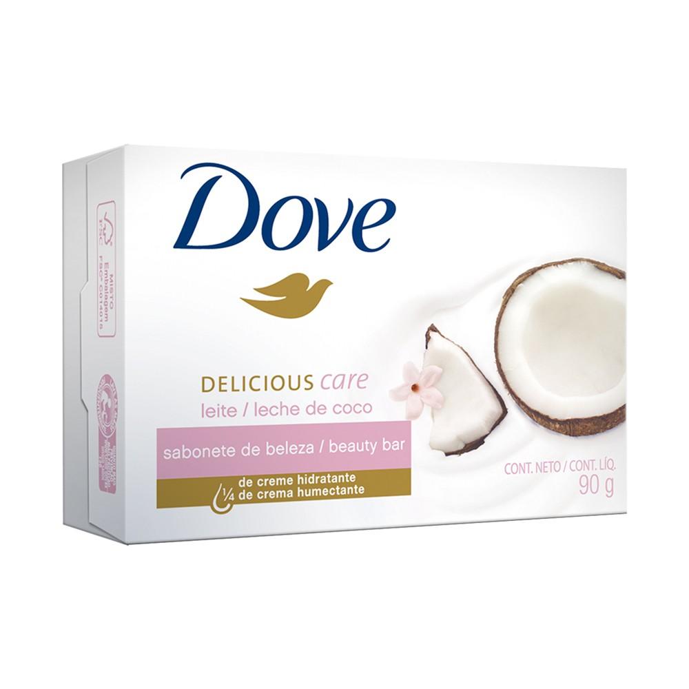 Sabonete em Barra Dove Delicious Care com Perfume de Leite De Coco 90 g  - Flor de Alecrim - Cosméticos