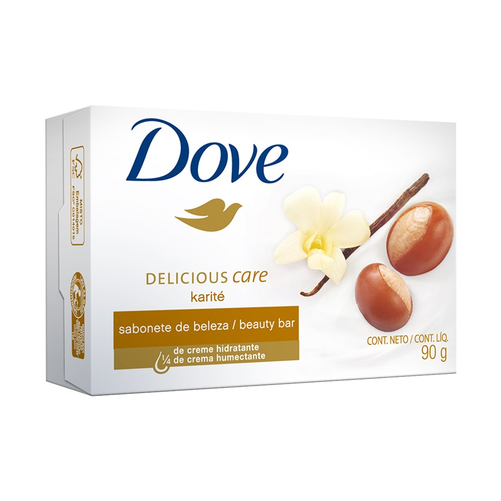 Sabonete em Barra Dove Delicious Care Karité e Baunilha 90 g  - Flor de Alecrim - Cosméticos