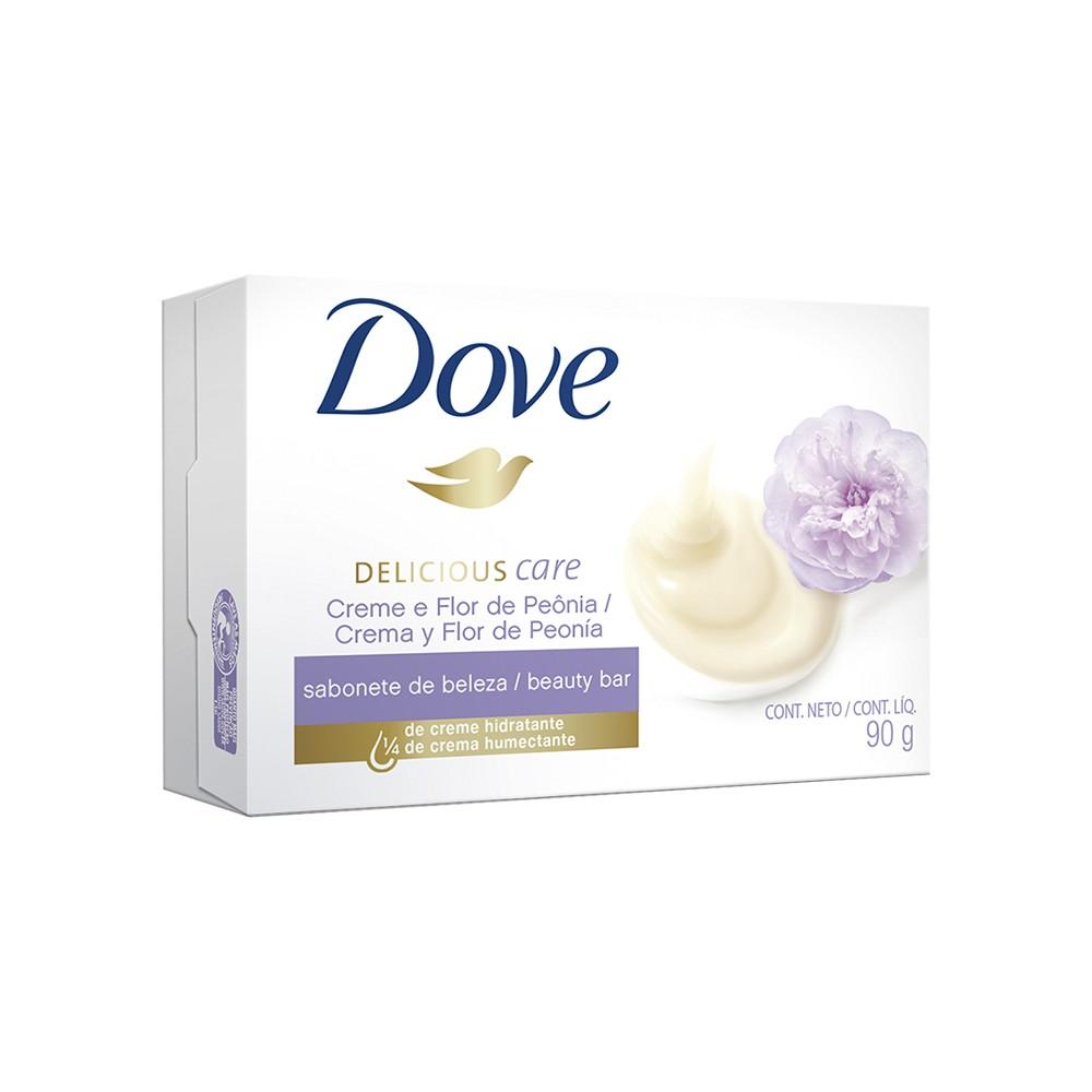 Sabonete em Barra Delicious Care Creme Flor de Peônia - 90 g   Dove  - Flor de Alecrim - Cosméticos