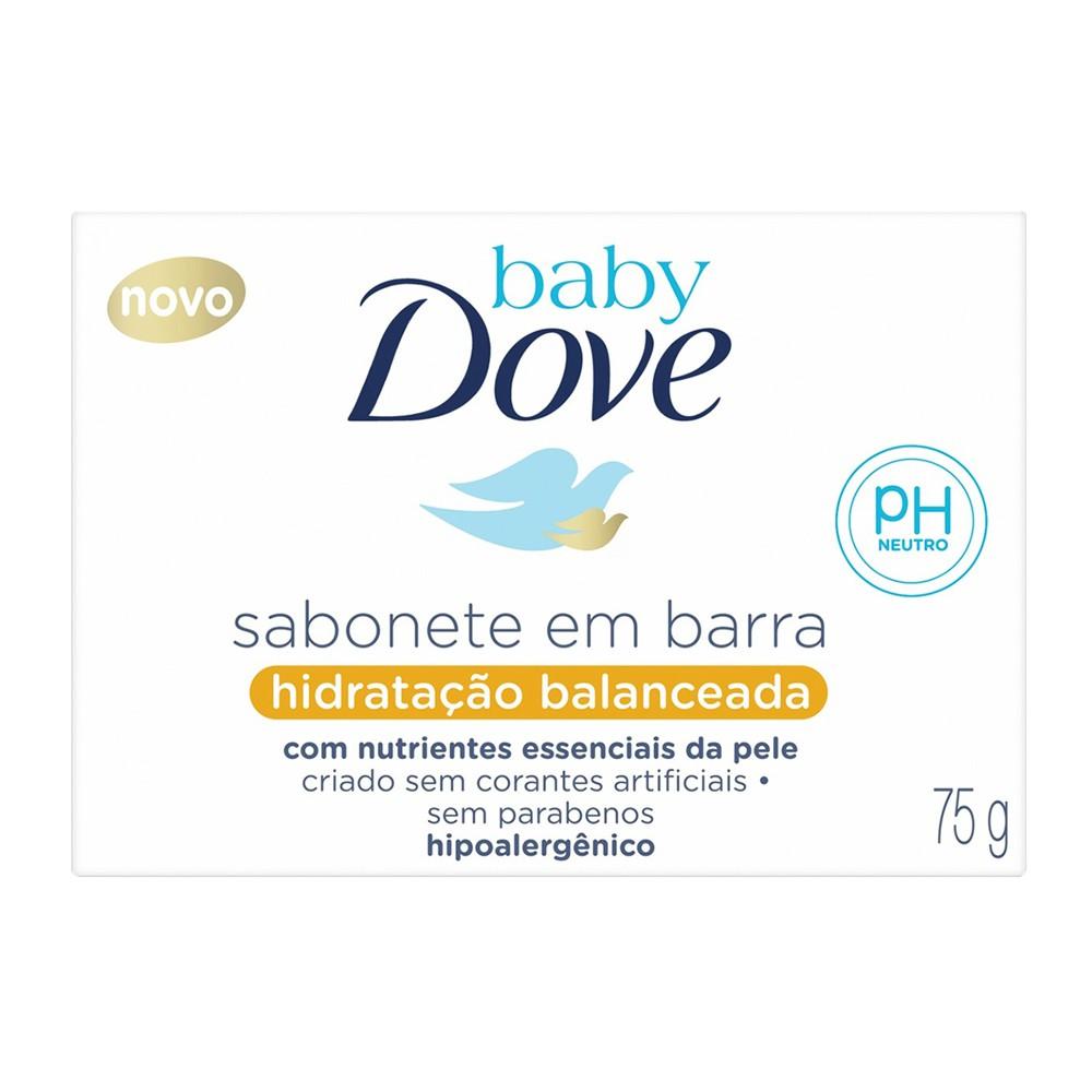 Sabonete em Barra Hidratação Balanceada 75 g | Baby Dove  - Flor de Alecrim - Cosméticos