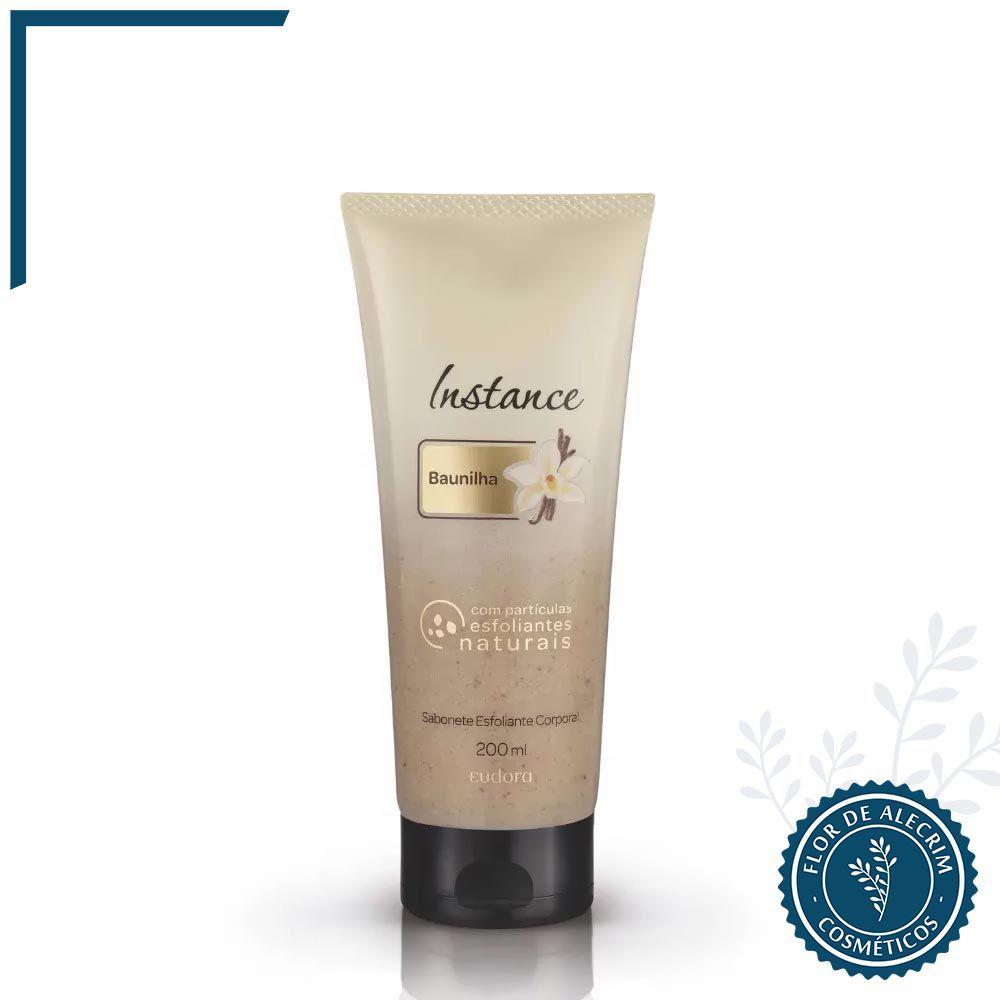 Sabonete Esfoliante Corporal Baunilha Instance - 200 ml| Eudora  - Flor de Alecrim - Cosméticos