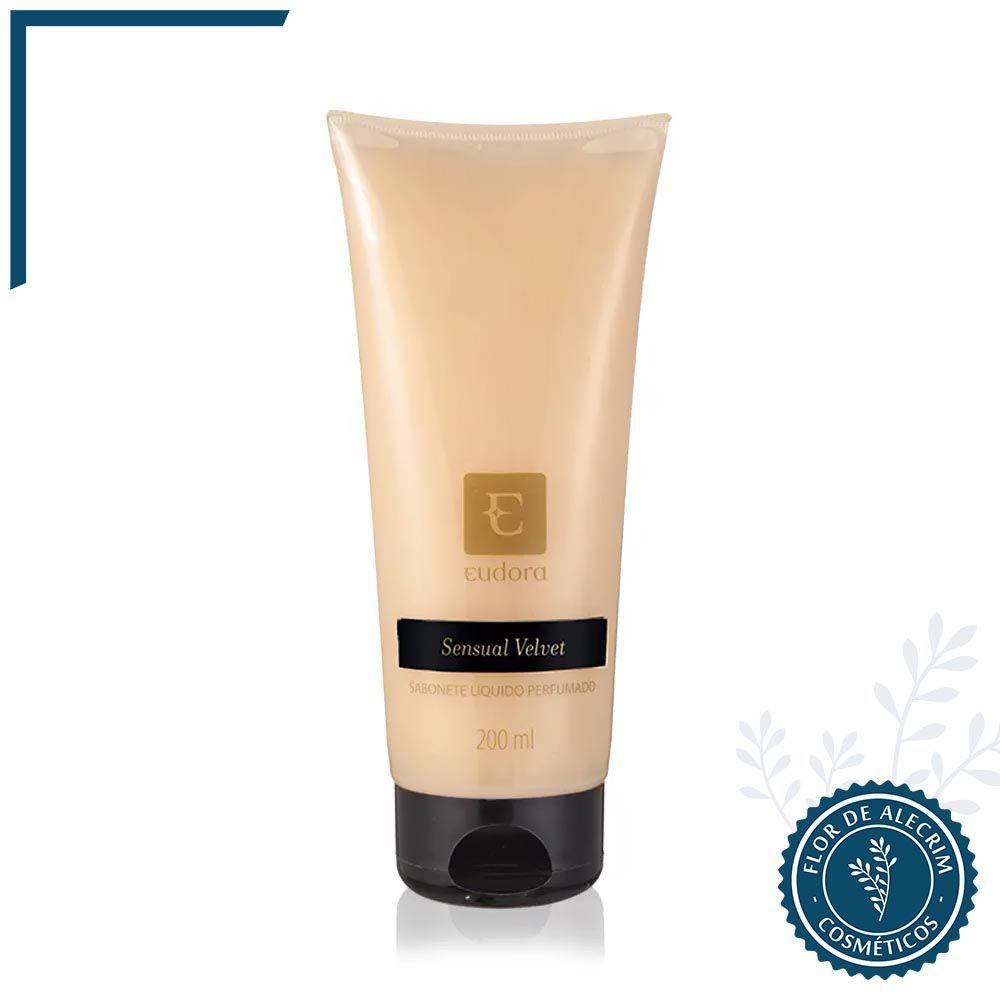 Sabonete Líquido Eudora Sensual Velvet - 200 ml  Eudora  - Flor de Alecrim - Cosméticos