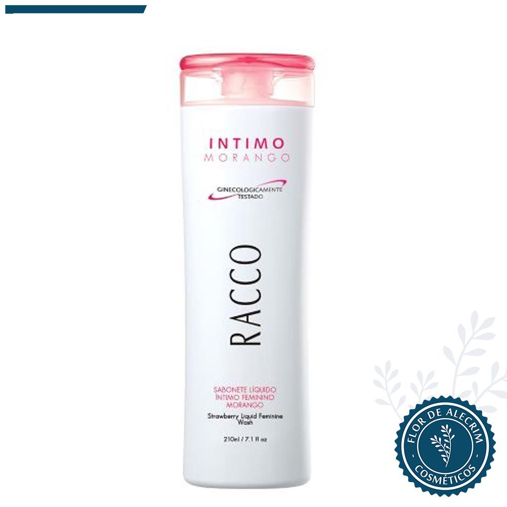 Sabonete Líquido Intimo Feminino Morango - 210 ml | Racco  - Flor de Alecrim - Cosméticos