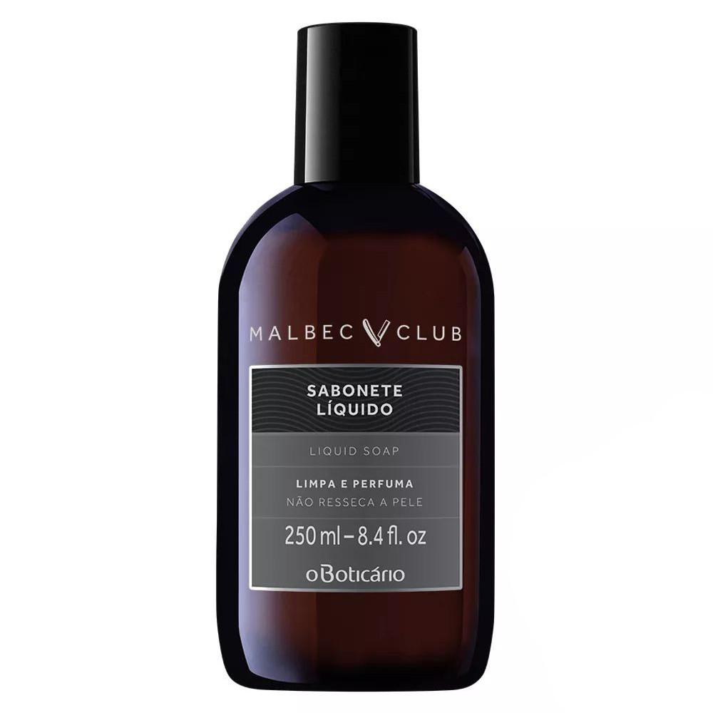 Sabonete Líquido Malbec Club - 250 ml | O Boticário  - Flor de Alecrim - Cosméticos