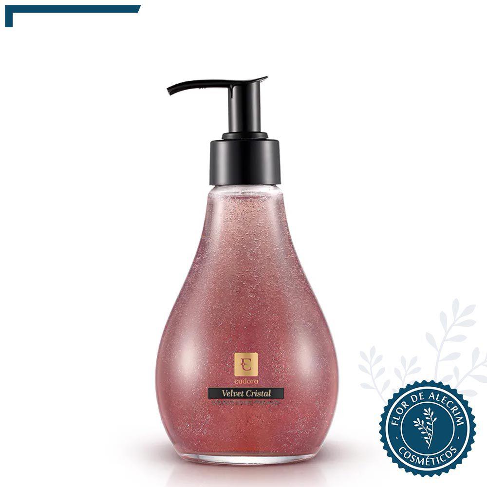 Sabonete Líquido para as Mãos Eudora Velvet Cristal - 260 ml| Eudora  - Flor de Alecrim - Cosméticos