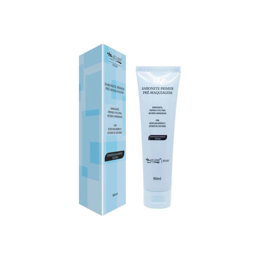 Sabonete Facial Primer Pré Maquiagem Max Love 90 Ml  - Flor de Alecrim - Cosméticos