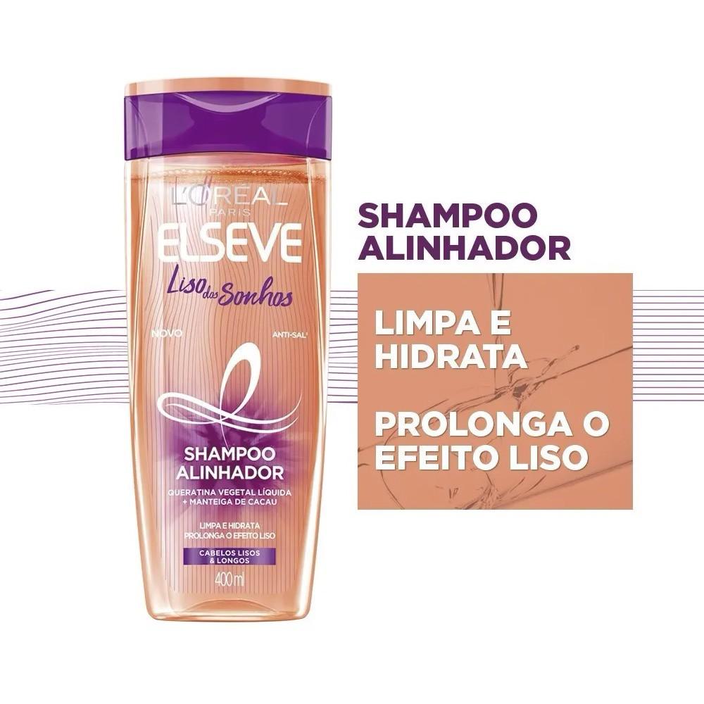 Shampoo Elseve Alinhador Liso Dos Sonhos 200 Ml  - Flor de Alecrim - Cosméticos