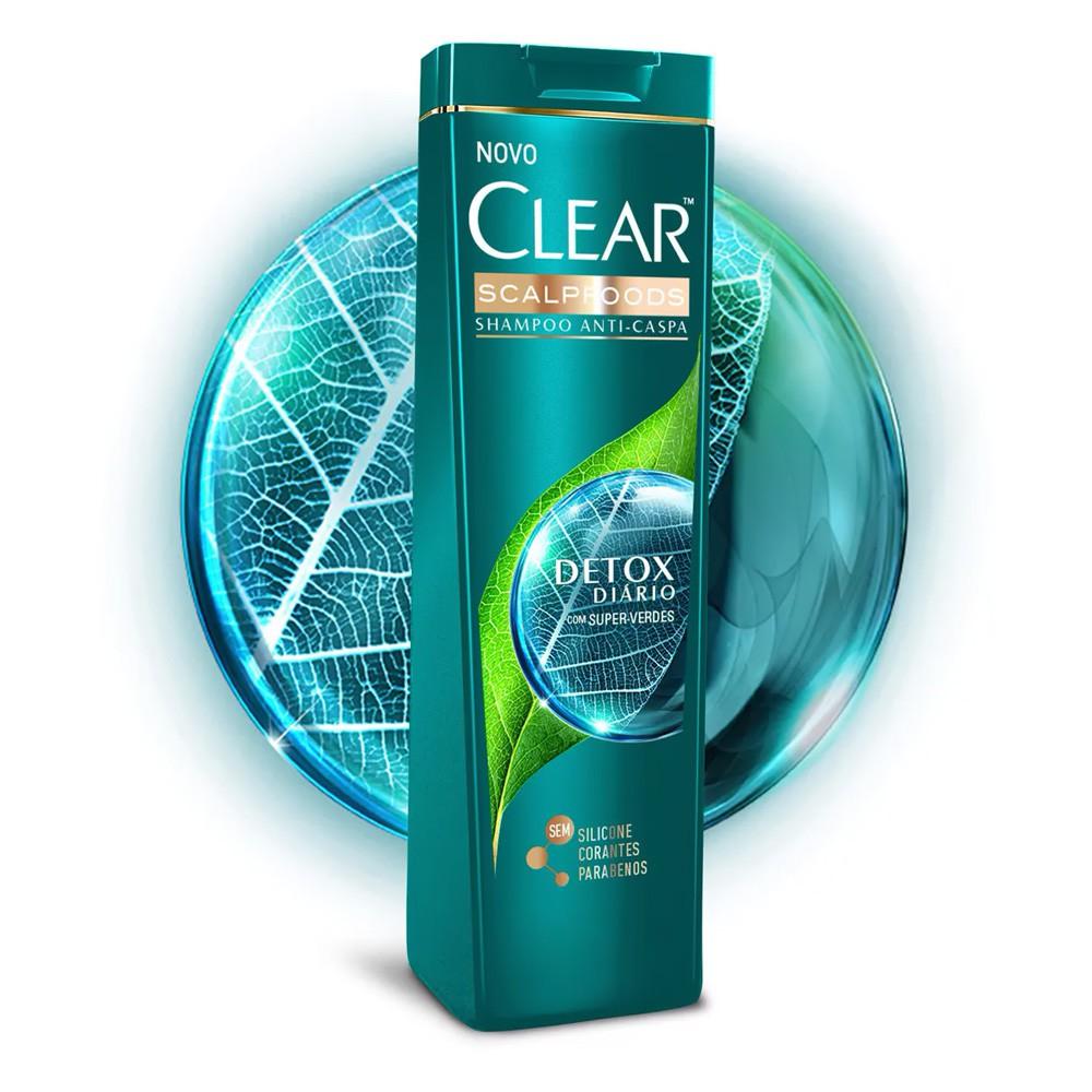 Shampoo Clear Anticaspa Detox Diário 200 Ml  - Flor de Alecrim - Cosméticos