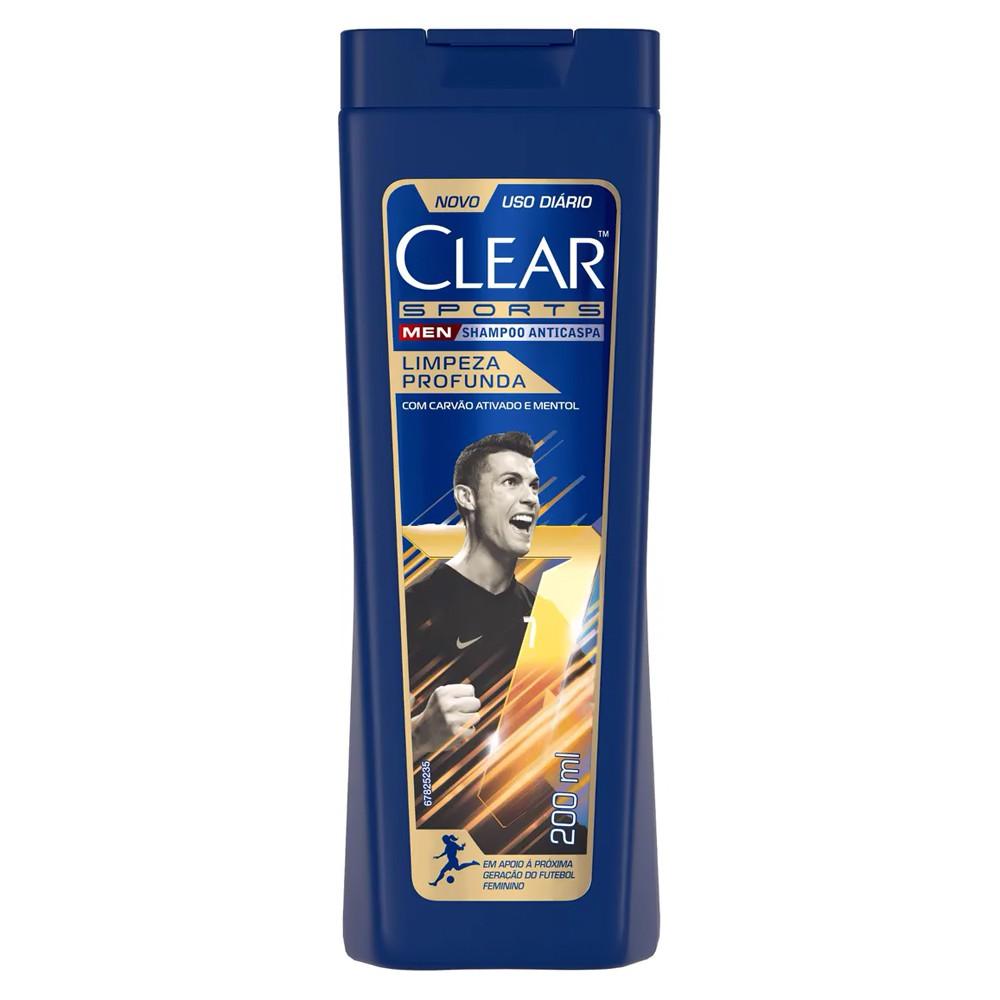 Shampoo Clear Anticaspa Sports 200 Ml  - Flor de Alecrim - Cosméticos