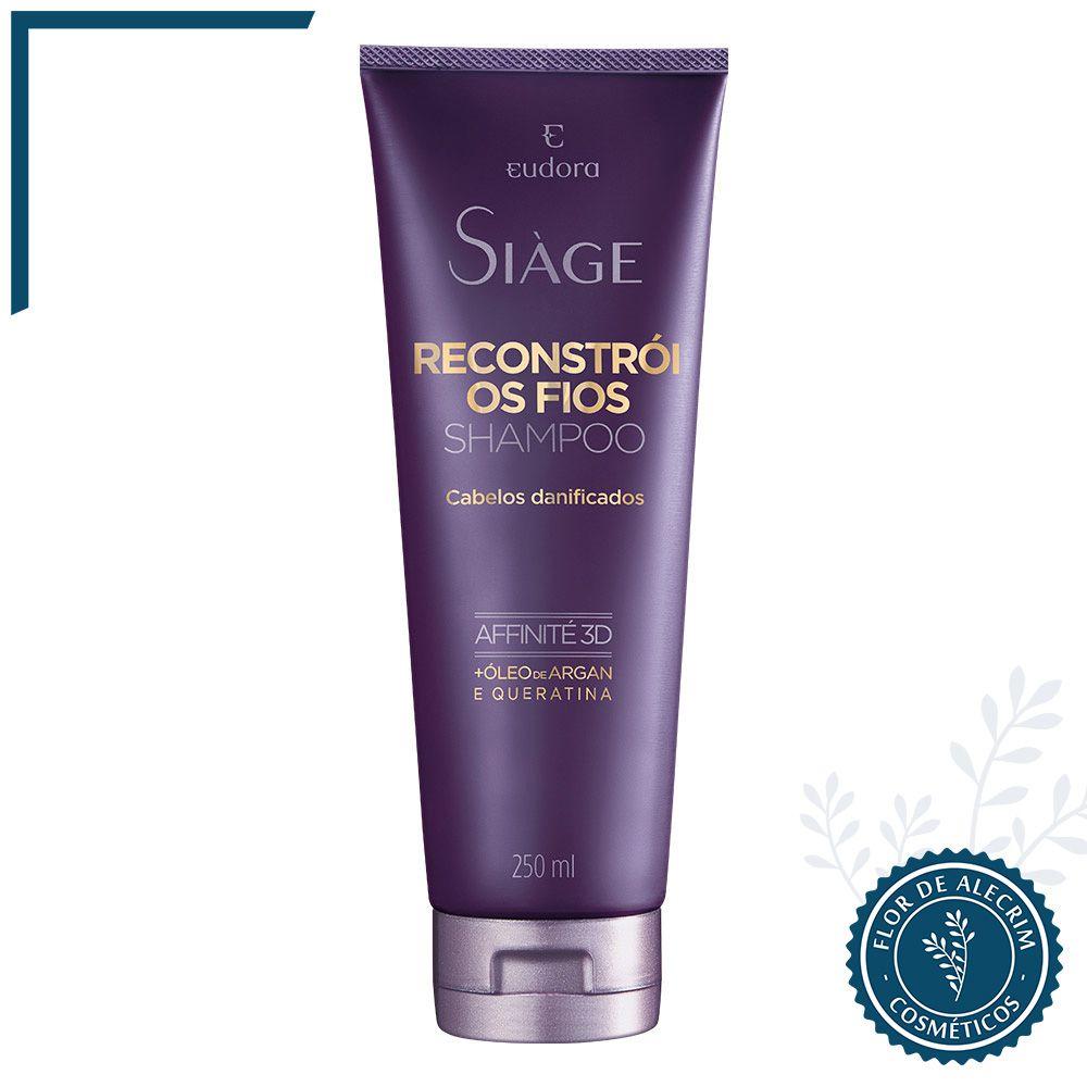 Shampoo Anti-Resíduos Reconstrói os Fios Siàge - 200 ml   Eudora  - Flor de Alecrim - Cosméticos