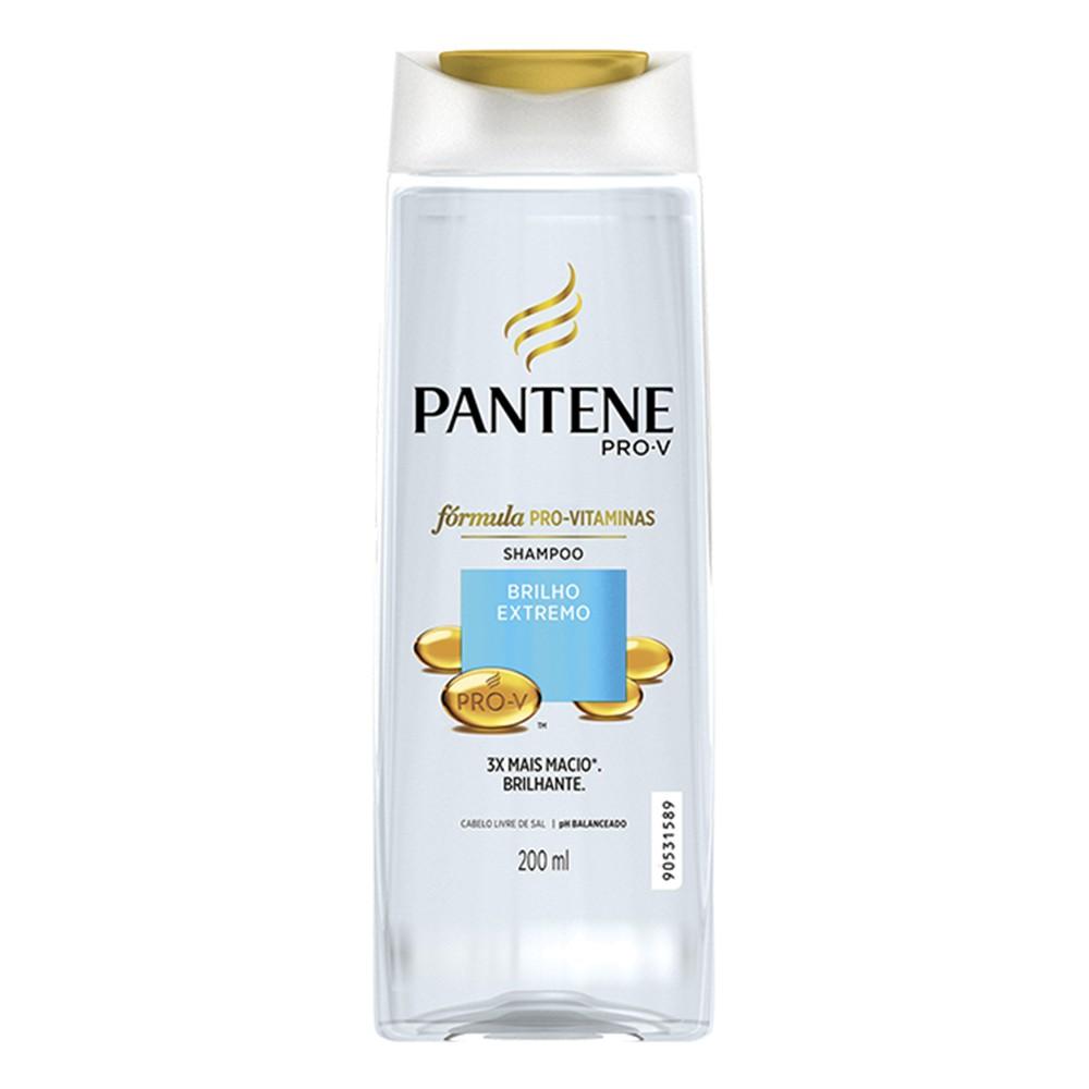 Shampoo Brilho Extremo - 200 Ml | Pantene  - Flor de Alecrim - Cosméticos