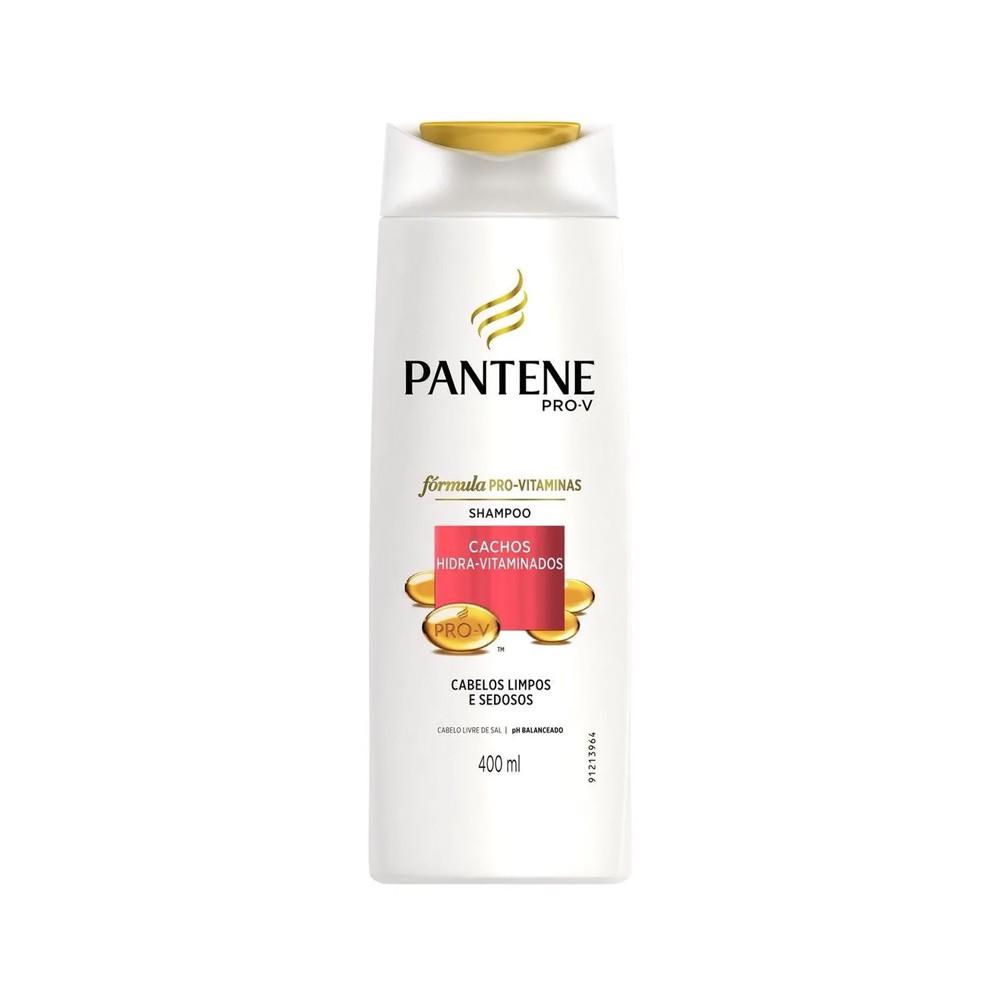 Shampoo Pantene Cachos Hidra Vitaminados 400 Ml  - Flor de Alecrim - Cosméticos