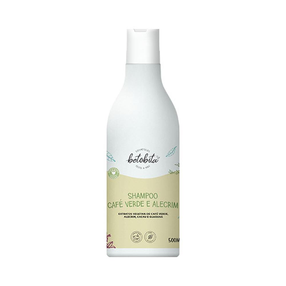 Shampoo BetoBita Café e Alecrim 500 Ml  - Flor de Alecrim - Cosméticos