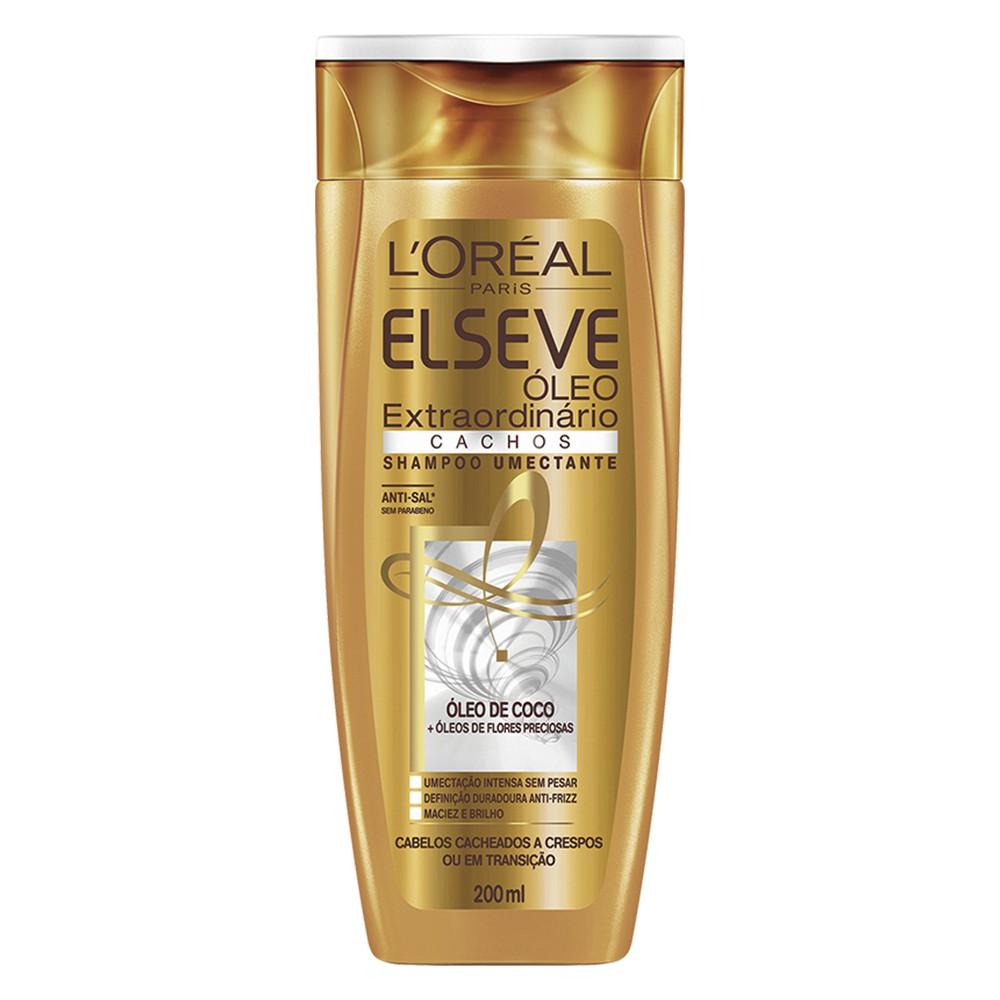Shampoo Elseve Óleo Extraordinário Cachos 200 Ml  - Flor de Alecrim - Cosméticos