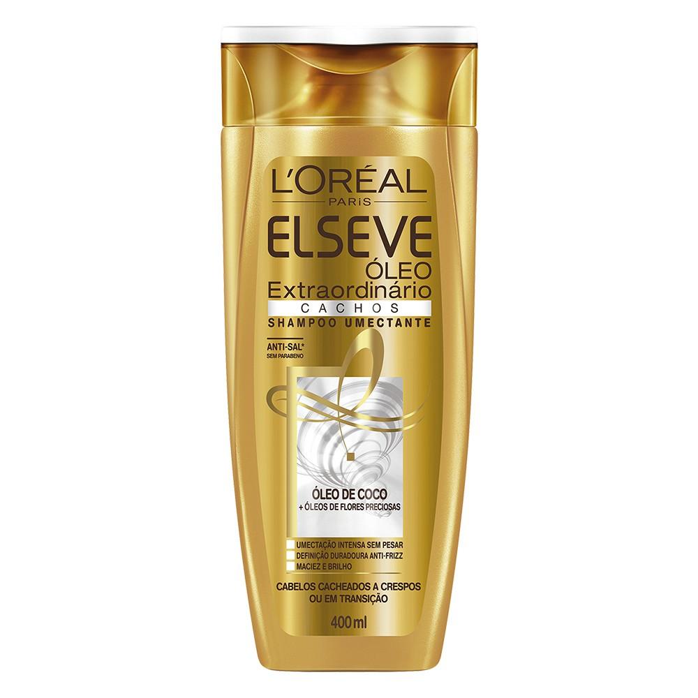 Shampoo Elseve Óleo Extraordinário Cachos 400 Ml  - Flor de Alecrim - Cosméticos
