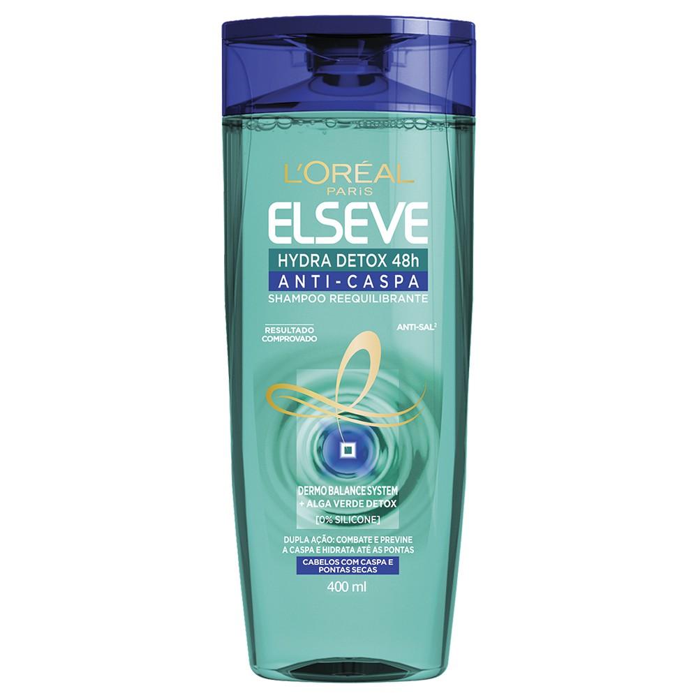 Shampoo Hydra Detox Anticaspa 400 Ml  - Flor de Alecrim - Cosméticos