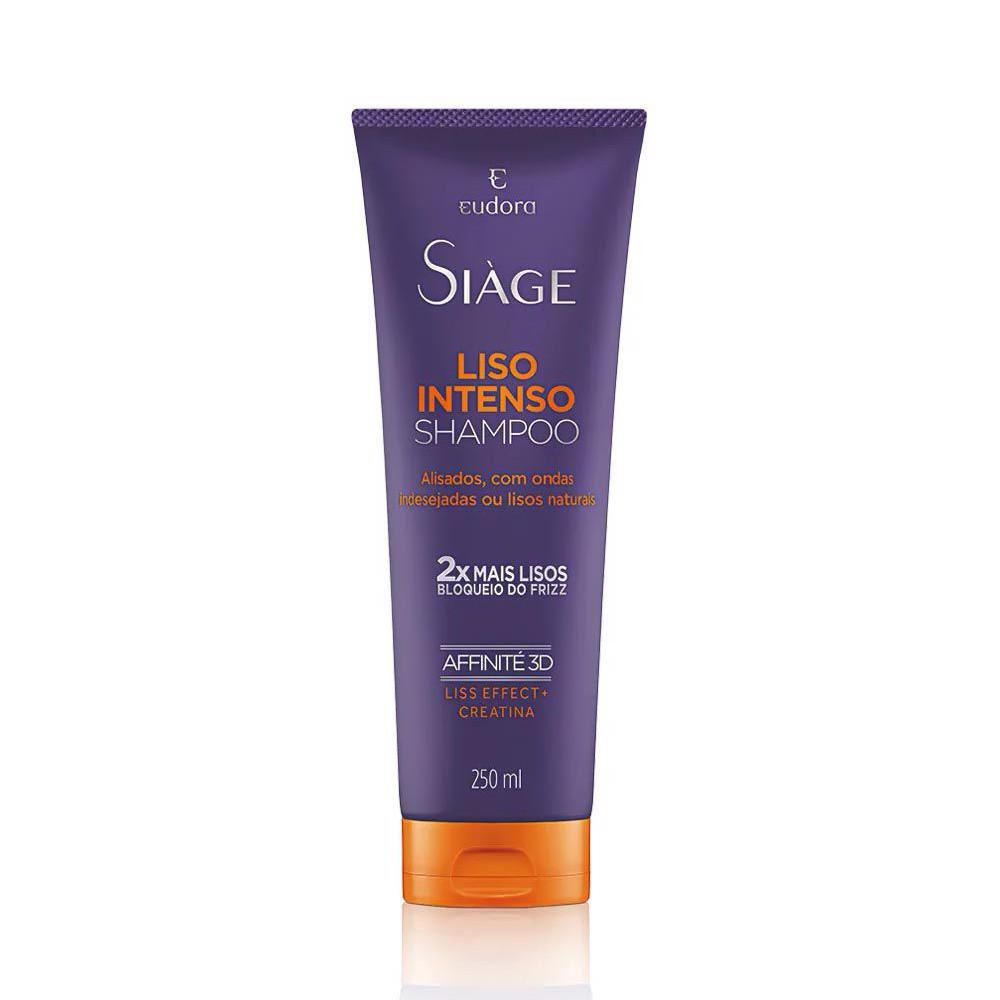 Shampoo Liso Intenso Siàge - 250 ml   Eudora  - Flor de Alecrim - Cosméticos