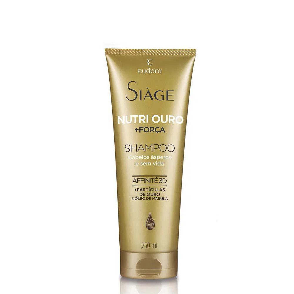 Shampoo Nutri Ouro Siàge - 250 ml | Eudora  - Flor de Alecrim - Cosméticos