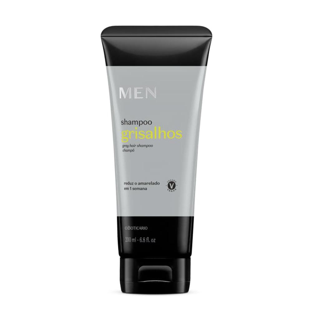 Shampoo para Cabelos Grisalhos Men 200 Ml  - Flor de Alecrim - Cosméticos