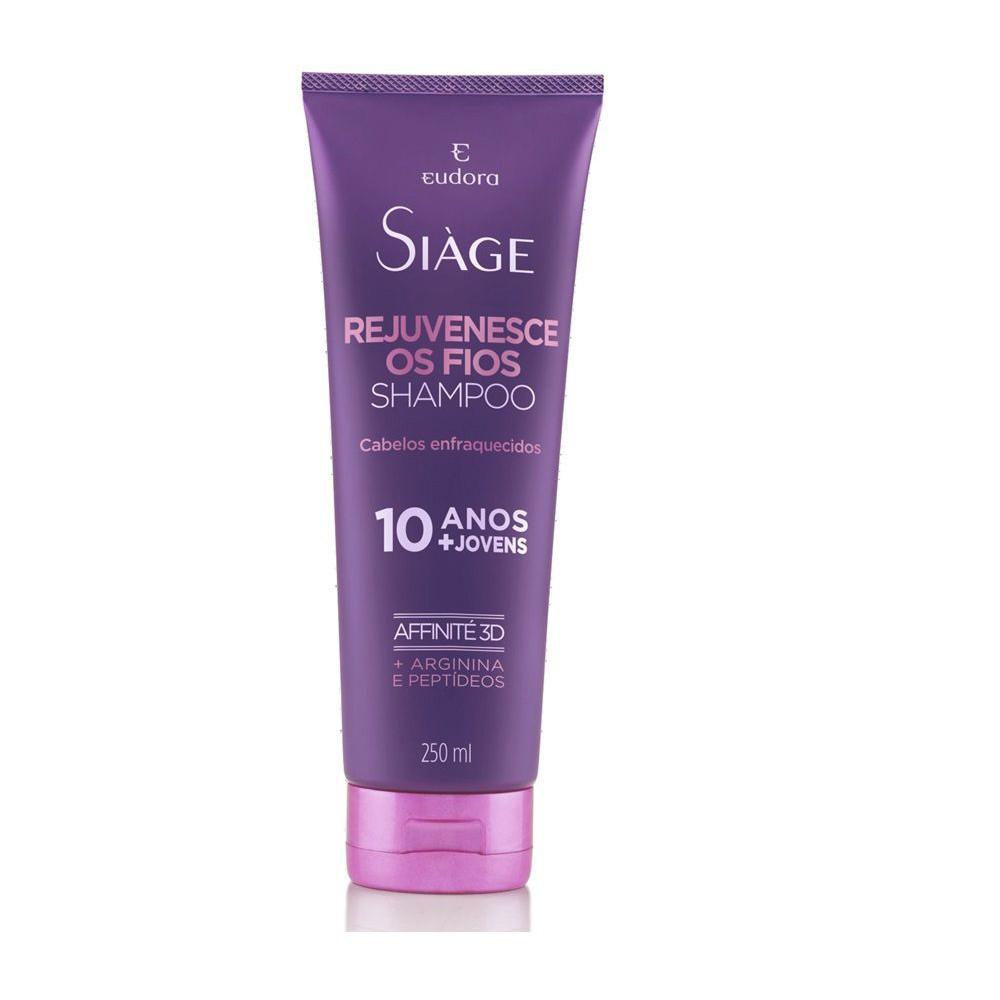 Shampoo Rejuvenesce os Fios Siàge - 250 ml | Eudora  - Flor de Alecrim - Cosméticos