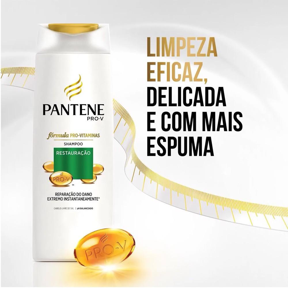 Shampoo Pantene Restauração 400 Ml  - Flor de Alecrim - Cosméticos