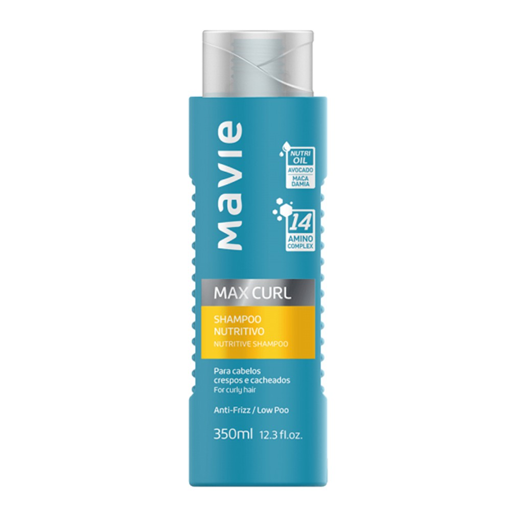 Shampoo Vegano Max Curl - 250 Ml | Mavie  - Flor de Alecrim - Cosméticos