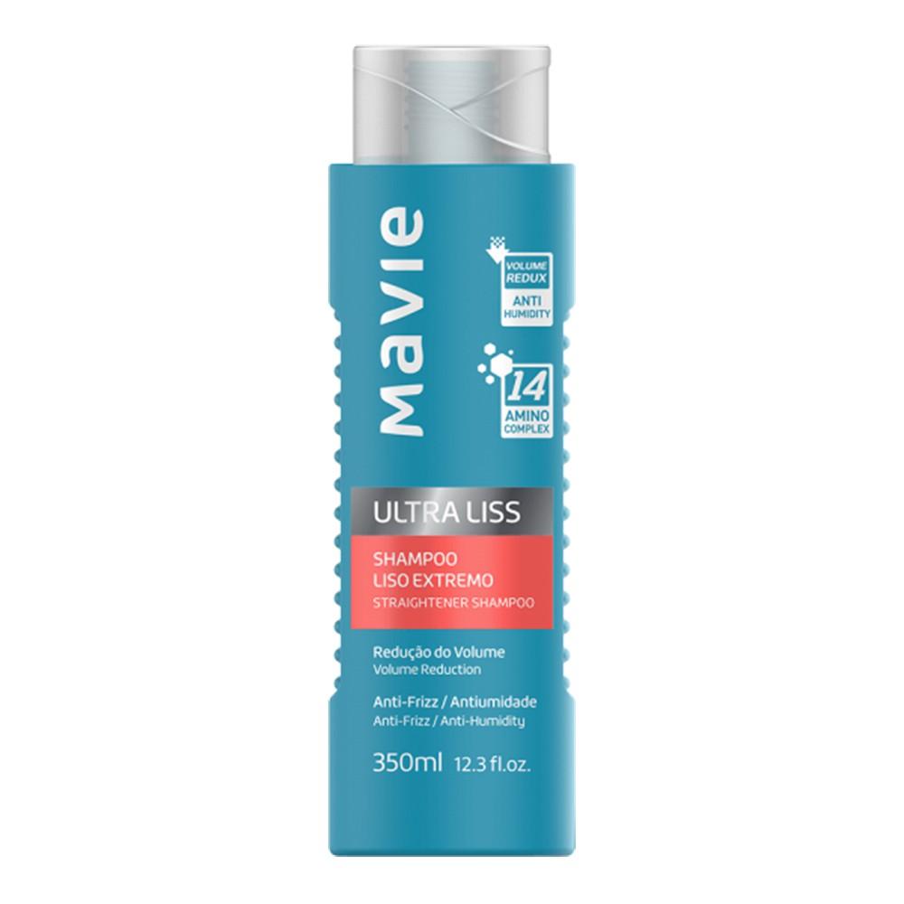 Shampoo Vegano Ultra Liss - 350 Ml | Mavie  - Flor de Alecrim - Cosméticos