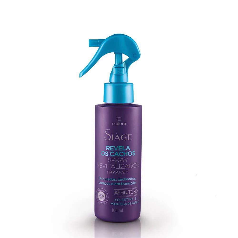 Spray Day After Ativador de Cachos Siàge 100 ml   Eudora  - Flor de Alecrim - Cosméticos