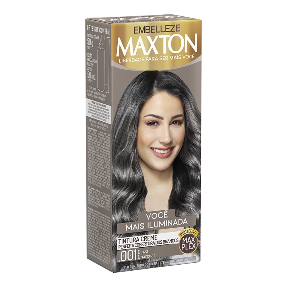 Tintura Creme .001 Cinza Charcoal MaxTon - Você + Iluminada - 50 g | Embelleze  - Flor de Alecrim - Cosméticos