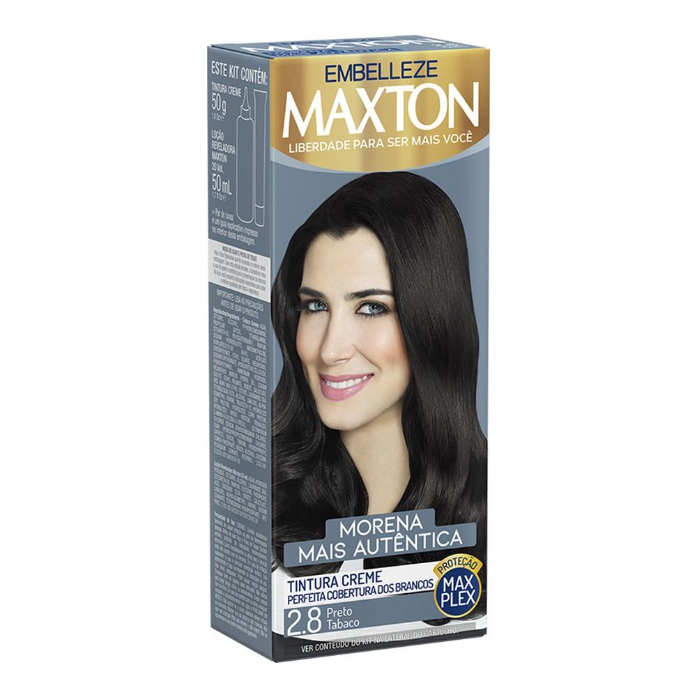 Tintura Creme 2.8 Preto Tabaco MaxTon - Morena + Autêntica 50 g  - Flor de Alecrim - Cosméticos