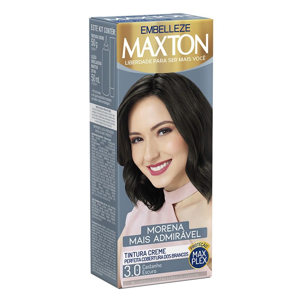 Tintura Creme 3.0 Castanho Escuro MaxTom - Morena + Admirável 50 g  - Flor de Alecrim - Cosméticos