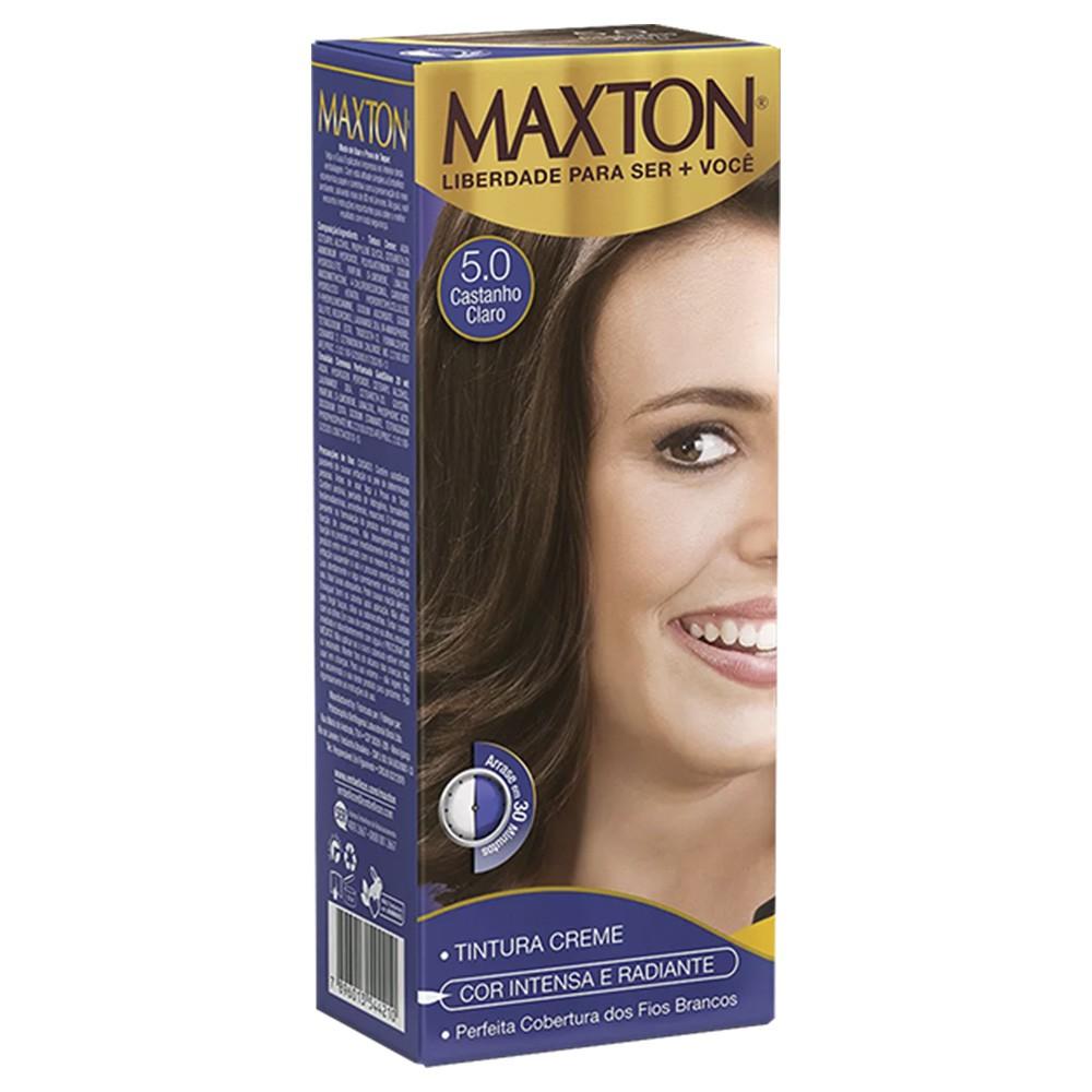 Tintura Creme 5.0 Castanho Claro Romance MaxTon - Cor Intensa e Radiante - 50 g | Embelleze  - Flor de Alecrim - Cosméticos