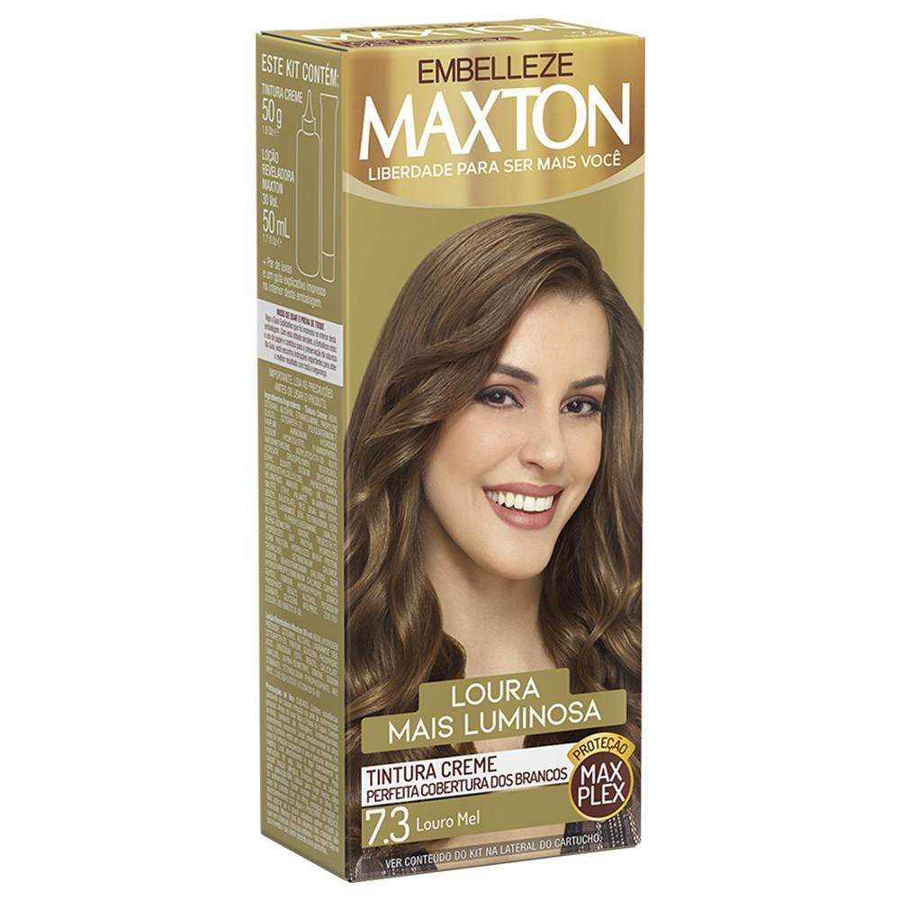 Tintura Creme 7.3 Louro Mel MaxTon - Loura + Luminosa - 50 g | Embelleze  - Flor de Alecrim - Cosméticos