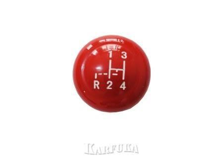 Bola de câmbio do Fusca Vermelha com marcha